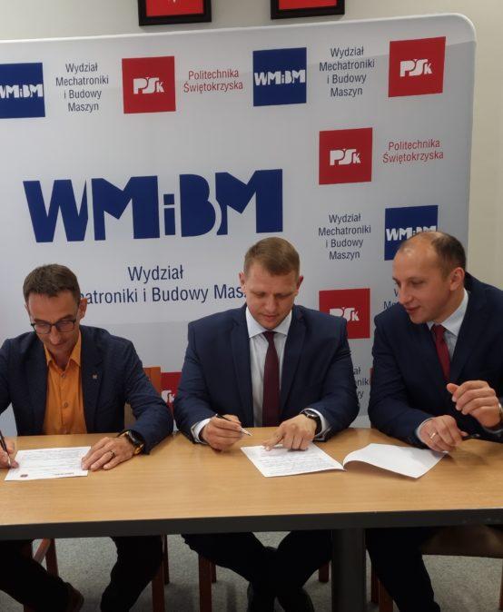 Umowa o współpracy pomiędzy Wydziałem Mechatroniki i Budowy Maszyn a firmą ISKRA Zakład Maszyn i Łożysk Specjalnych Sp. z o. o.